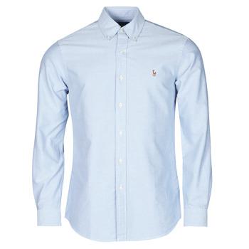 Kleidung Herren Langärmelige Hemden Polo Ralph Lauren LORENZ Blau