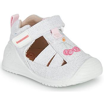 Schuhe Mädchen Sandalen / Sandaletten Biomecanics 212213 Silbern / Weiss