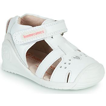 Schuhe Mädchen Sandalen / Sandaletten Biomecanics 212104 Weiss / Silbern
