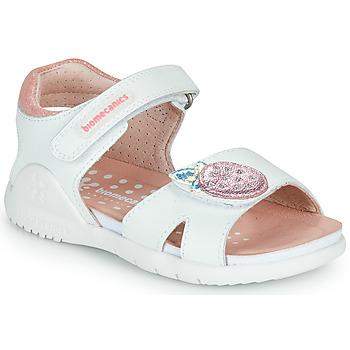 Schuhe Mädchen Sandalen / Sandaletten Biomecanics 212163 Weiss / Rose