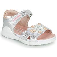 Schuhe Mädchen Sandalen / Sandaletten Biomecanics 212172 Silbern