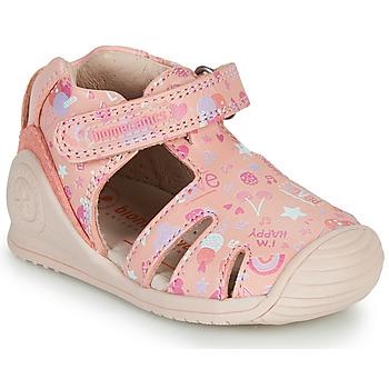 Schuhe Mädchen Sandalen / Sandaletten Biomecanics 212107 Rose