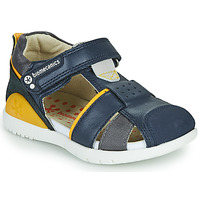Schuhe Jungen Sandalen / Sandaletten Biomecanics 212187 Marine / Gelb