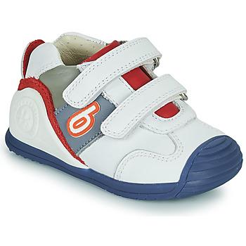 Schuhe Jungen Sneaker Low Biomecanics 202148 Weiss / Blau / Rot