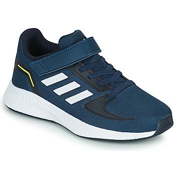 Schuhe Kinder Sneaker Low adidas Performance RUNFALCON 2.0 C Marine / Weiss