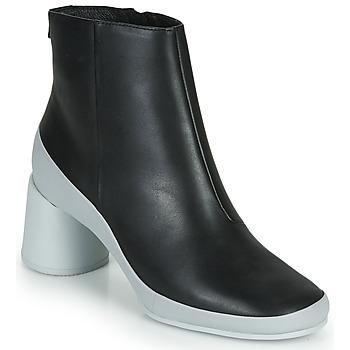 Schuhe Damen Low Boots Camper UPRIGHT Schwarz / Weiss