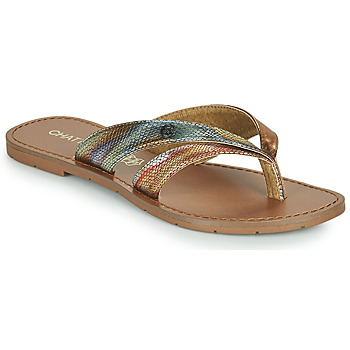 Schuhe Damen Zehensandalen Chattawak KALINDA Gold / Multicolor