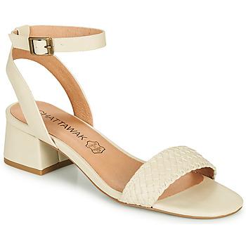 Schuhe Damen Sandalen / Sandaletten Chattawak MUSCADE Creme