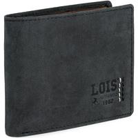 Taschen Herren Portemonnaie Lois HEWITT Herren Leder Brieftasche Schwarz