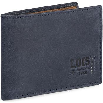Taschen Herren Portemonnaie Lois HEWITT Herren Leder Brieftasche Marine Blau