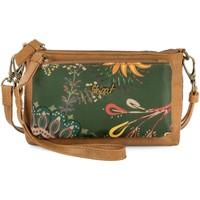 Taschen Damen Portemonnaie Skpat LORETTE Nylon/Ecopiel Handgelenk Griff Brieftasche für Frauen Braun