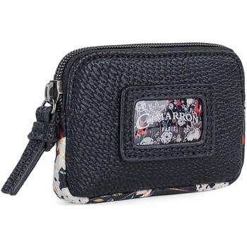 Taschen Damen Geldbeutel Cimarron QUINCY Ecopiel Damen Geldbörse Schwarz