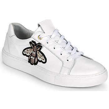 Schuhe Damen Sneaker Low Myma PIGGA Weiss