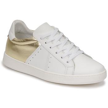 Schuhe Damen Sneaker Low Myma PIGGE Weiss / Goldfarben