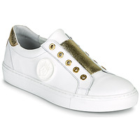 Schuhe Damen Sneaker Low Myma PAGGI Weiss / Goldfarben