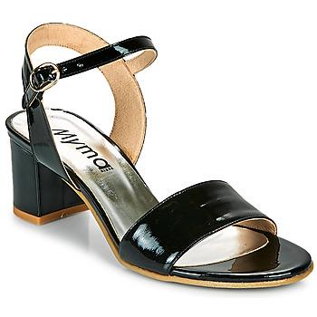 Schuhe Damen Sandalen / Sandaletten Myma POLIDAME Schwarz