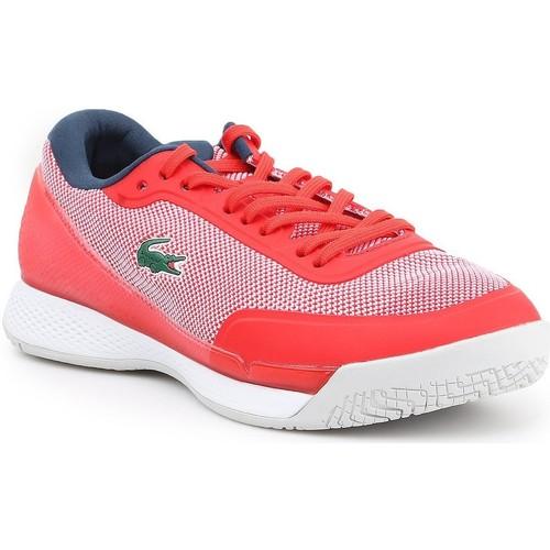 Schuhe Damen Sneaker Low Lacoste Tennisschuhe  LT Pro 117 2 SPW 7-33SPW1018RS7 rot, dunkelblau, weiß