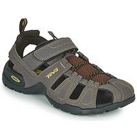 Schuhe Herren Sportliche Sandalen Teva FOREBAY Braun