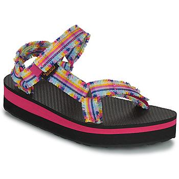 Schuhe Mädchen Sandalen / Sandaletten Teva C MIDFORM FRAY Rose / Multicolor