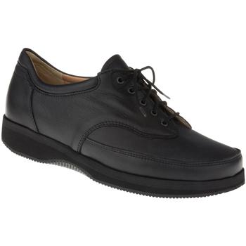Schuhe Damen Richelieu Natural Feet Schnürer Paris XL Farbe: schwarz schwarz
