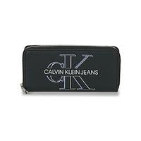 Taschen Damen Portemonnaie Calvin Klein Jeans ZIP AROUND GLOW Schwarz