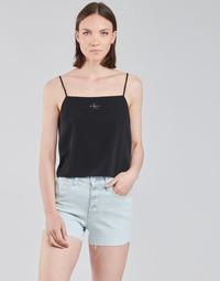 Kleidung Damen Tops / Blusen Calvin Klein Jeans MONOGRAM CAMI TOP Schwarz