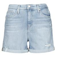 Kleidung Damen Shorts / Bermudas Calvin Klein Jeans MOM SHORT Blau