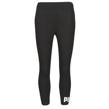 Kleidung Damen Leggings Puma ESS 3/4 LOGO LEGGING Schwarz