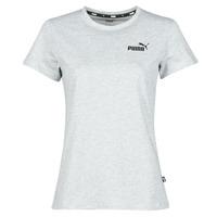 Kleidung Damen T-Shirts Puma ESS LOGO TEE Grau