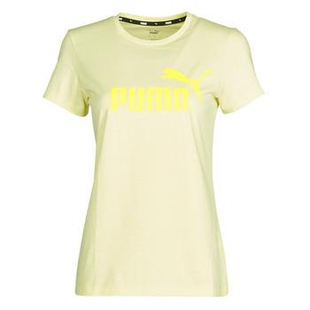 Kleidung Damen T-Shirts Puma ESS Logo Tee (s) Gelb
