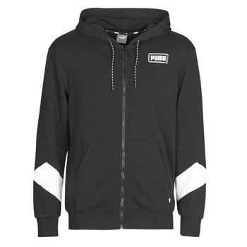 Kleidung Herren Sweatshirts Puma REBEL FZ HOOD Schwarz