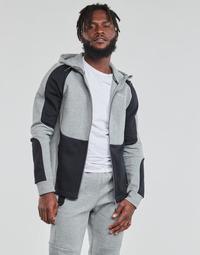 Kleidung Herren Sweatshirts Puma EVOSTRIPE FZ HOODY Grau / Schwarz