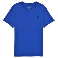 Kleidung Jungen T-Shirts Polo Ralph Lauren ELIVA Blau / Schokolade / bronze