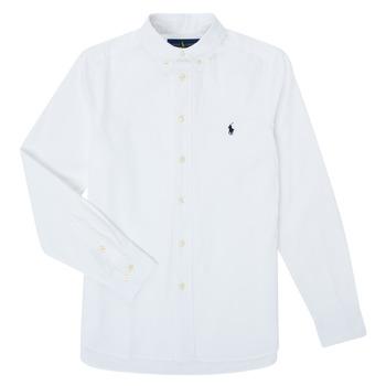 Kleidung Jungen Langärmelige Hemden Polo Ralph Lauren CAMIZA Weiss