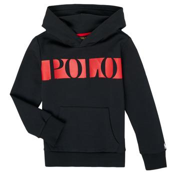 Kleidung Jungen Sweatshirts Polo Ralph Lauren VOULLI Schwarz