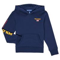 Kleidung Jungen Sweatshirts Polo Ralph Lauren AMELIA Marine