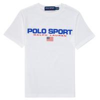 Kleidung Jungen T-Shirts Polo Ralph Lauren DRONI Weiss