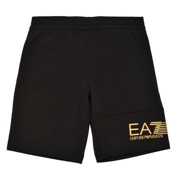Kleidung Jungen Shorts / Bermudas Emporio Armani EA7 3KBS53-BJ05Z-1200 Schwarz / Gold
