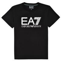 Kleidung Jungen T-Shirts Emporio Armani EA7 3KBT53-BJ02Z-1200 Schwarz