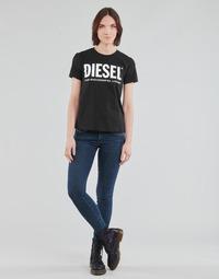 Kleidung Damen Röhrenjeans Diesel SLANDY-LOW Blau