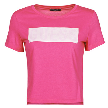 Kleidung Damen T-Shirts Guess SS CN ADRIA TEE Rose