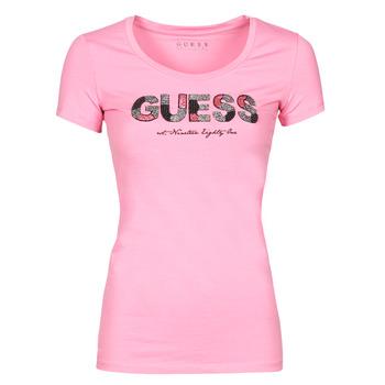 Kleidung Damen T-Shirts Guess SS RN MARTINA TEE Rose