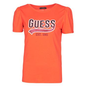 Kleidung Damen T-Shirts Guess SS CN MARISOL TEE Rot
