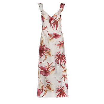 Kleidung Damen Maxikleider Guess CORA DRESS Multicolor / Weiss