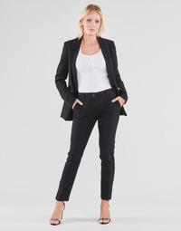 Kleidung Damen 5-Pocket-Hosen Guess ZOE PANTS Schwarz