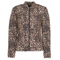 Kleidung Damen Daunenjacken Guess VERA JACKET Leopard