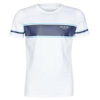 Kleidung Herren T-Shirts Guess CN SS TEE Weiss / Marine