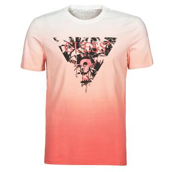 Kleidung Herren T-Shirts Guess PALM BEACH CN SS TEE Rot