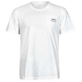 Kleidung Herren T-Shirts Guess ORGANIC BASIC CN SS TEE Weiss