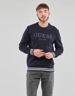 Kleidung Herren Sweatshirts Guess BEAU CN FLEECE Schwarz